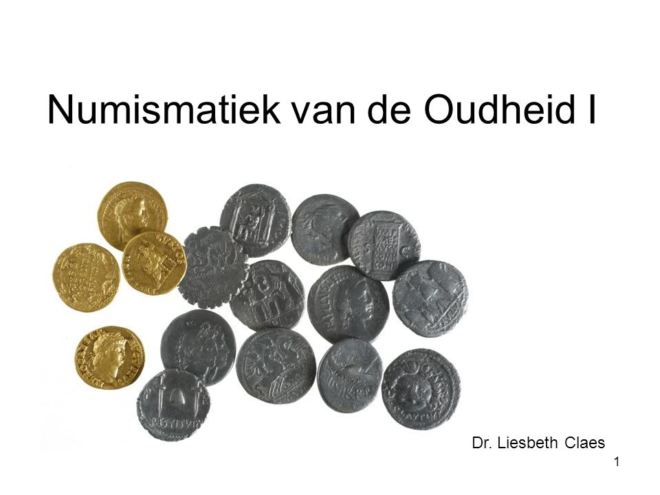 Numismatiek van de Oudheid I