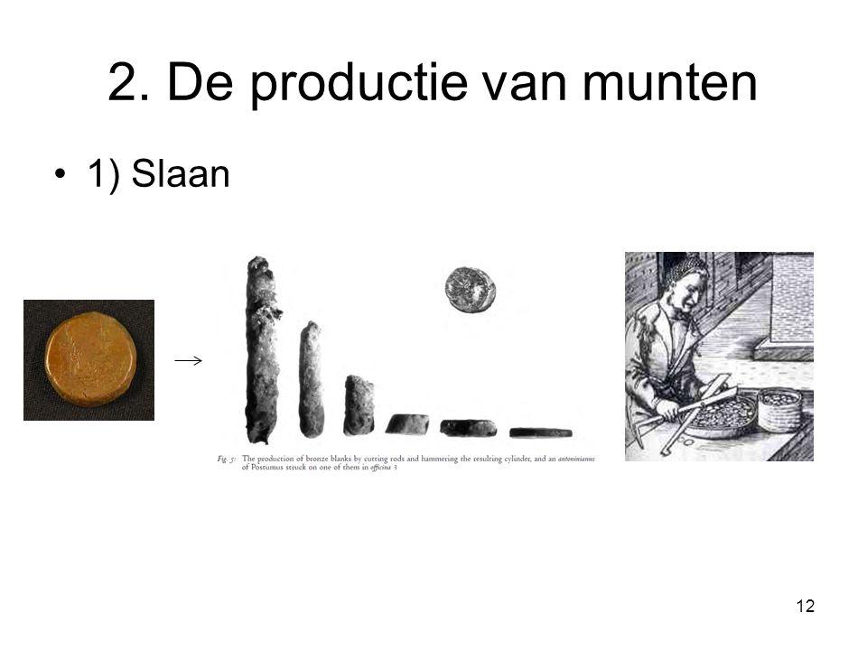2. De productie van munten