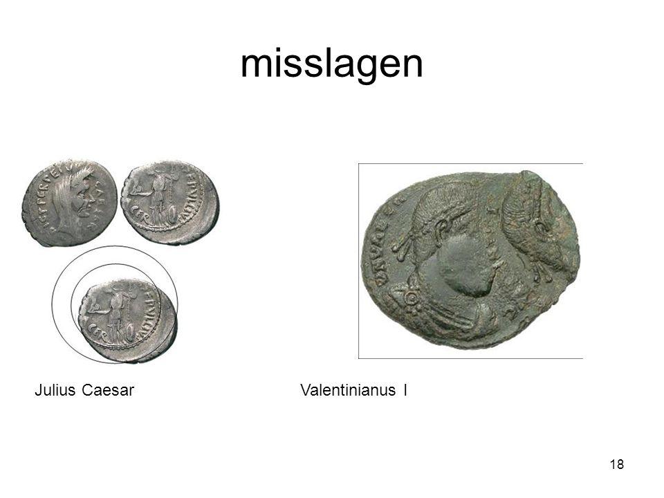 misslagen Julius Caesar Valentinianus I
