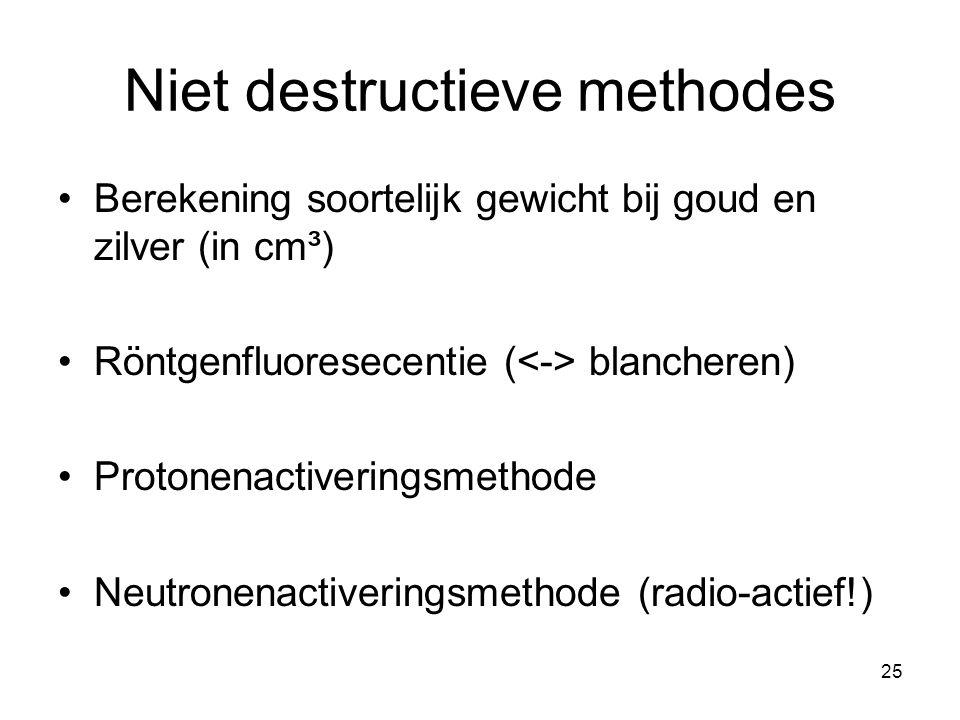 Niet destructieve methodes