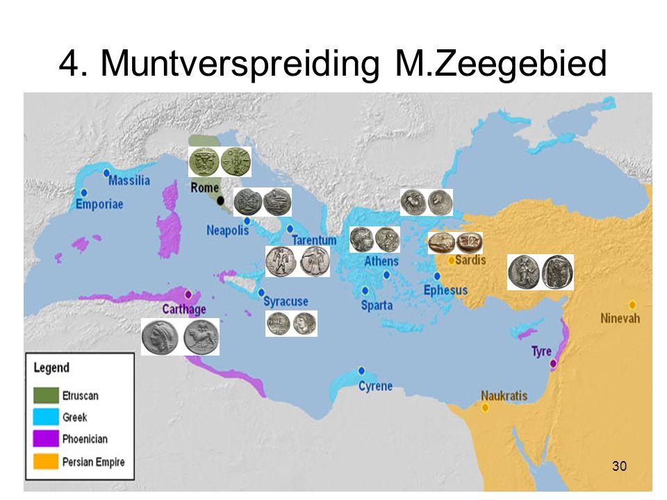4. Muntverspreiding M.Zeegebied