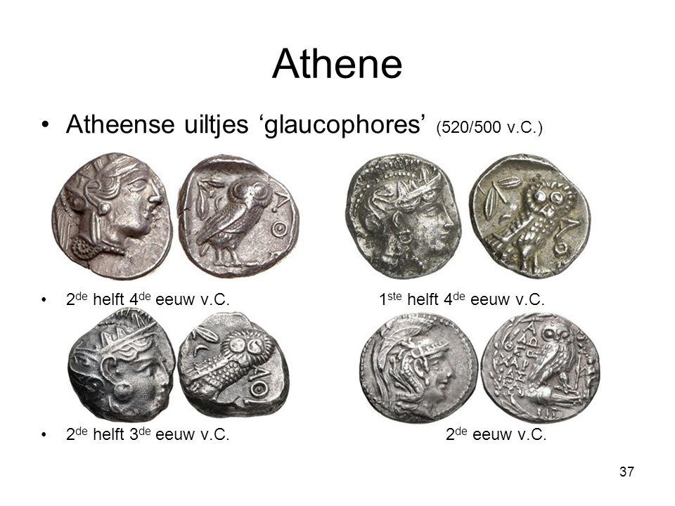 Athene Atheense uiltjes 'glaucophores' (520/500 v.C.)