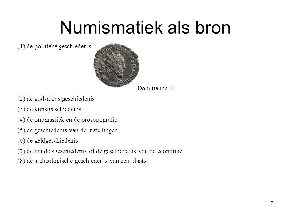 Numismatiek als bron (1) de politieke geschiedenis Domitianus II