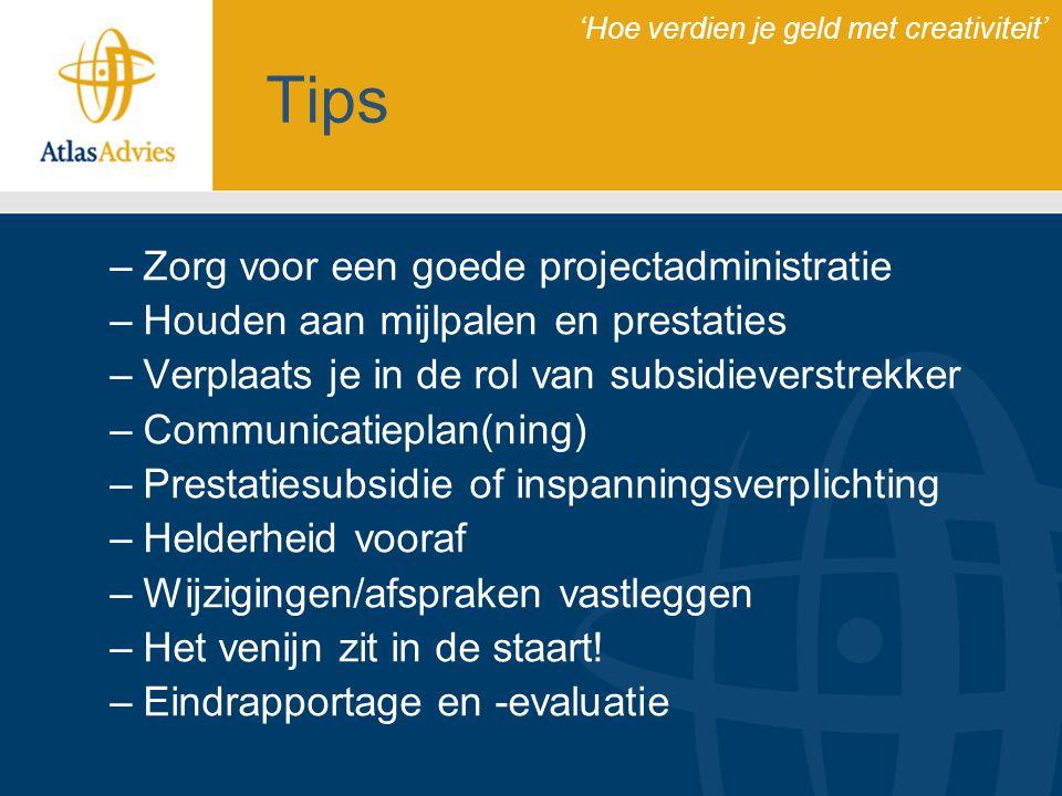 Tips Zorg voor een goede projectadministratie