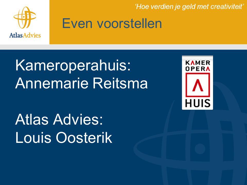 Kameroperahuis: Annemarie Reitsma Atlas Advies: Louis Oosterik