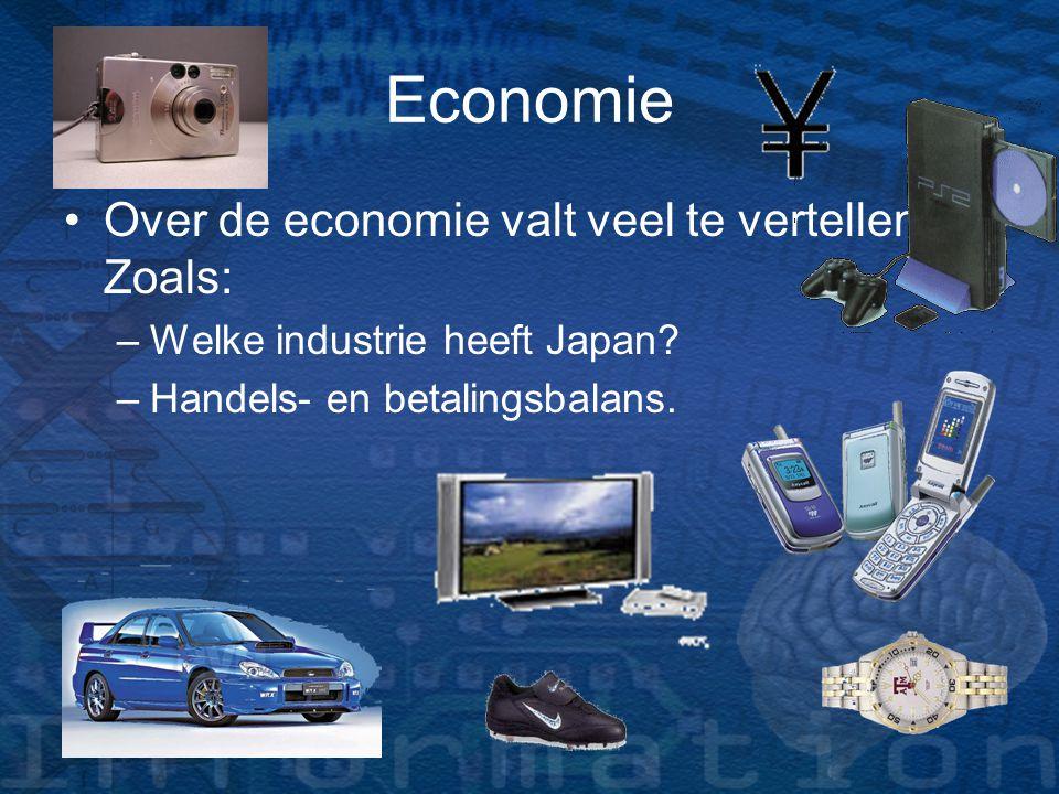 Economie Over de economie valt veel te vertellen. Zoals: