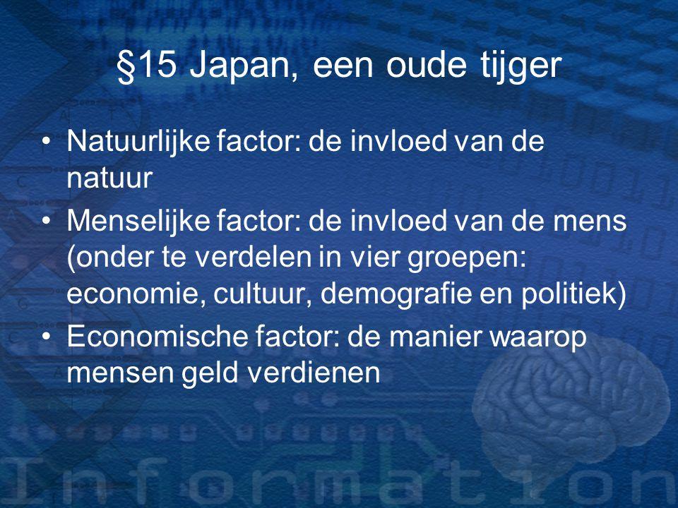 §15 Japan, een oude tijger Natuurlijke factor: de invloed van de natuur.