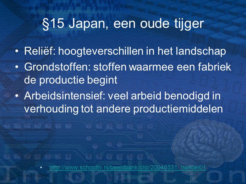 §15 Japan, een oude tijger Reliëf: hoogteverschillen in het landschap
