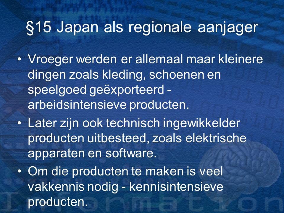 §15 Japan als regionale aanjager