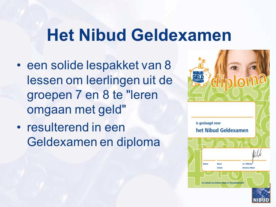 Het Nibud Geldexamen een solide lespakket van 8 lessen om leerlingen uit de groepen 7 en 8 te leren omgaan met geld