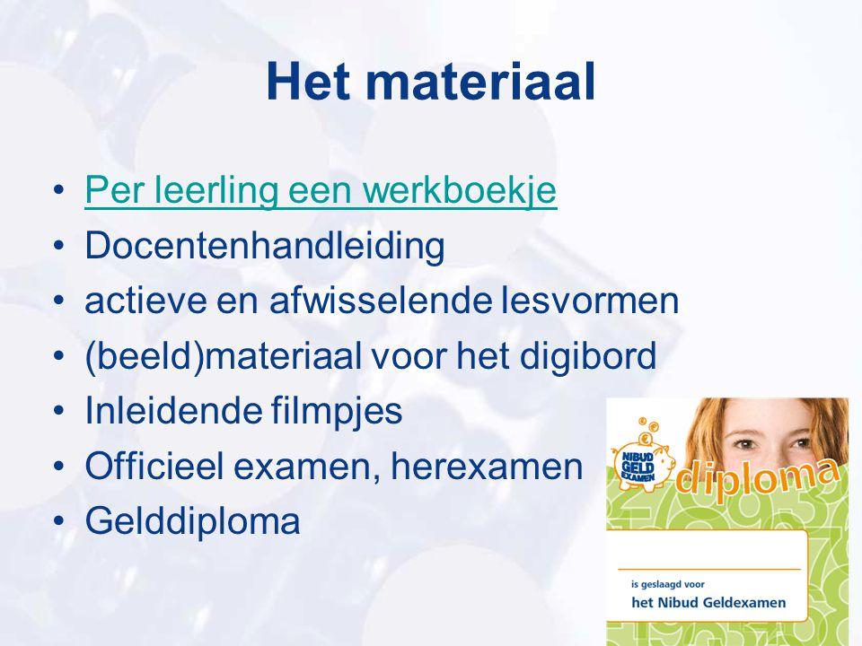 Het materiaal Per leerling een werkboekje Docentenhandleiding