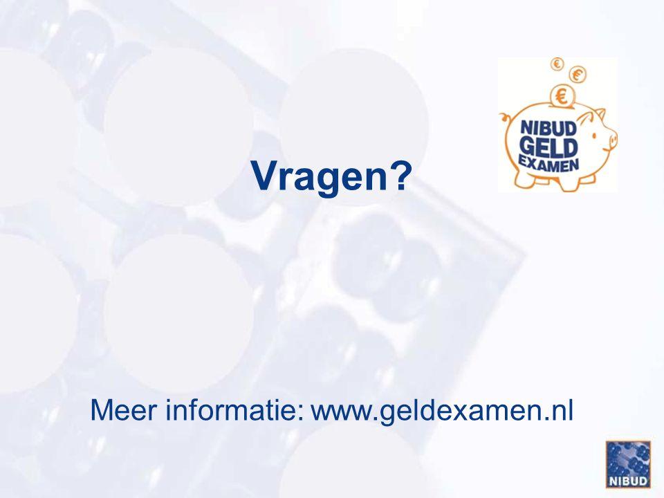Meer informatie: www.geldexamen.nl