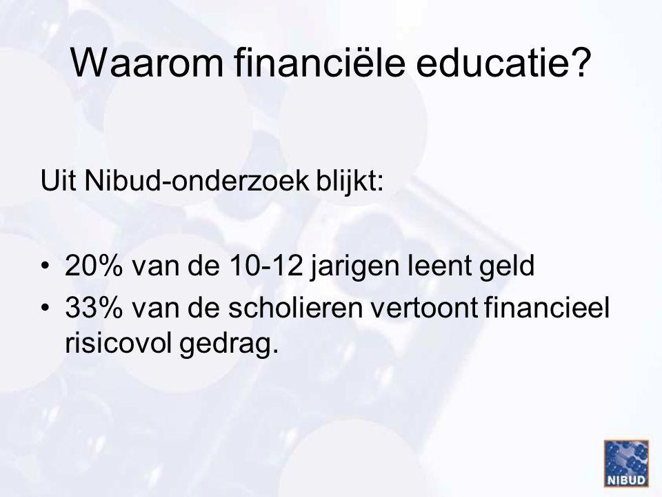 Waarom financiële educatie