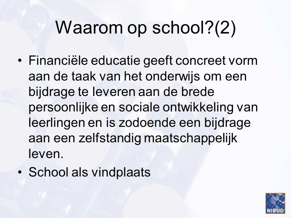 Waarom op school (2)