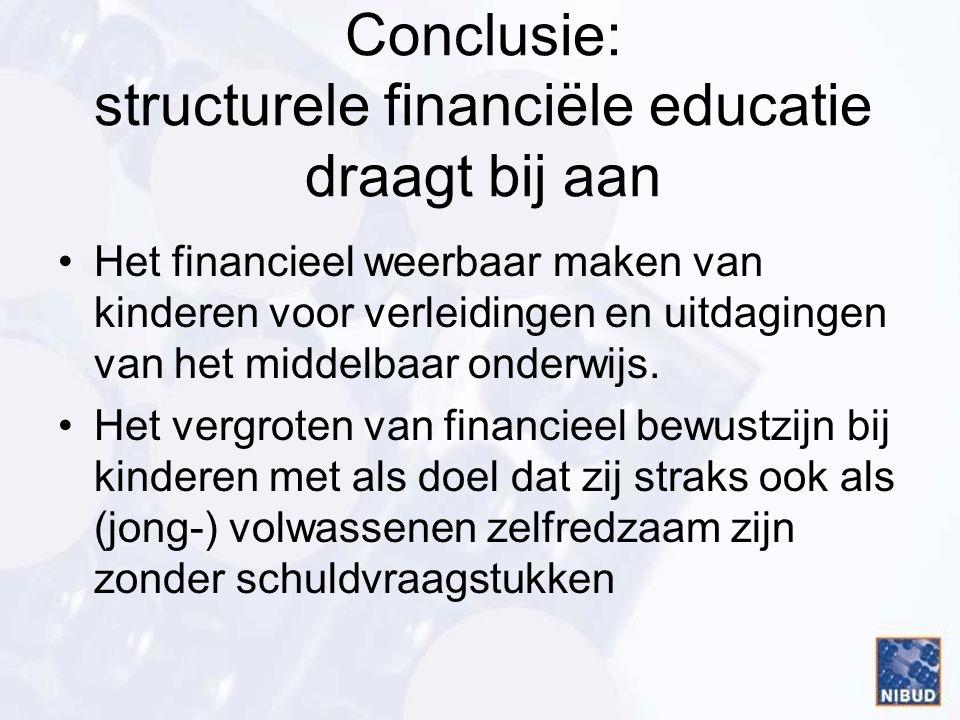 Conclusie: structurele financiële educatie draagt bij aan