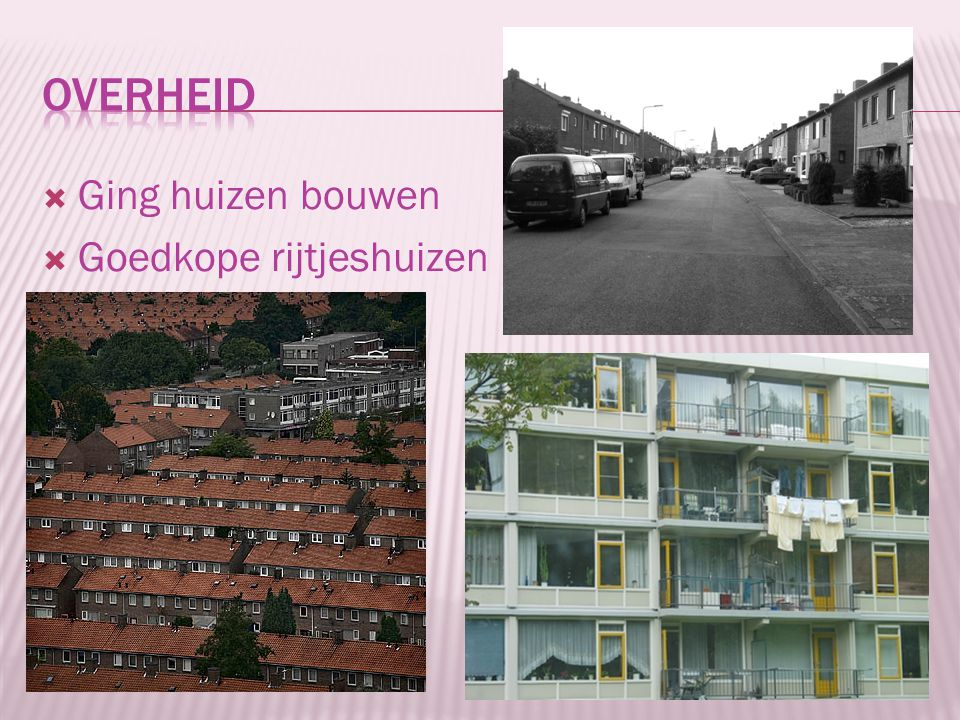 Overheid Ging huizen bouwen Goedkope rijtjeshuizen