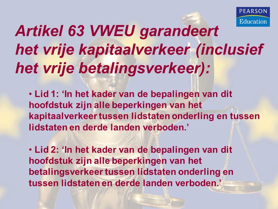 Artikel 63 VWEU garandeert