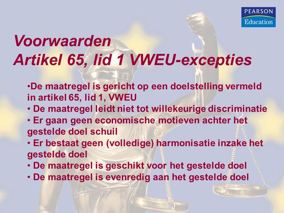 Artikel 65, lid 1 VWEU-excepties
