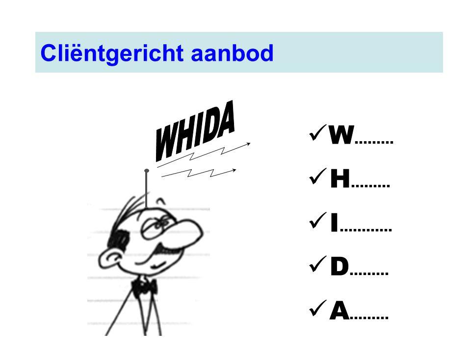 Cliëntgericht aanbod WHIDA W……… H……… I………... D……… A………