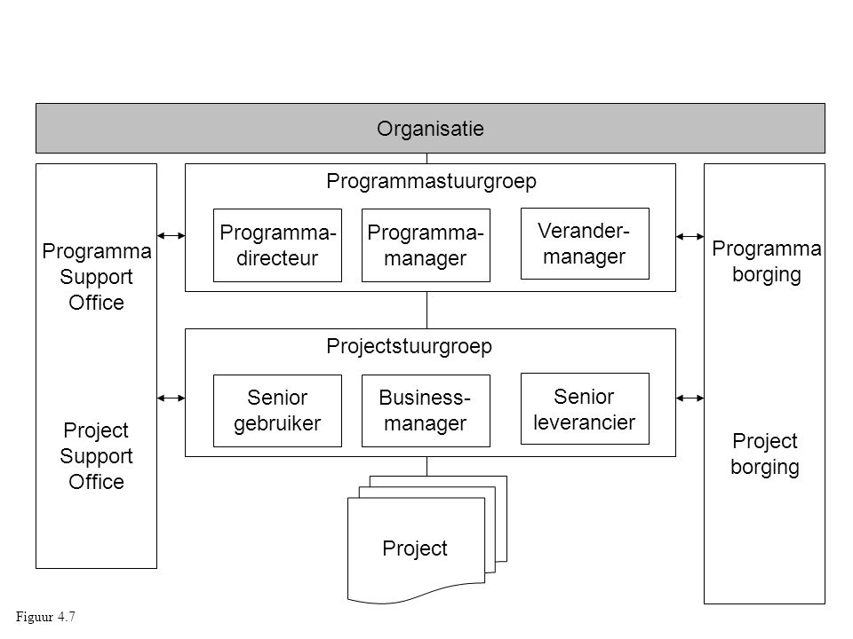 Organisatie Programma Support Office Project Programmastuurgroep