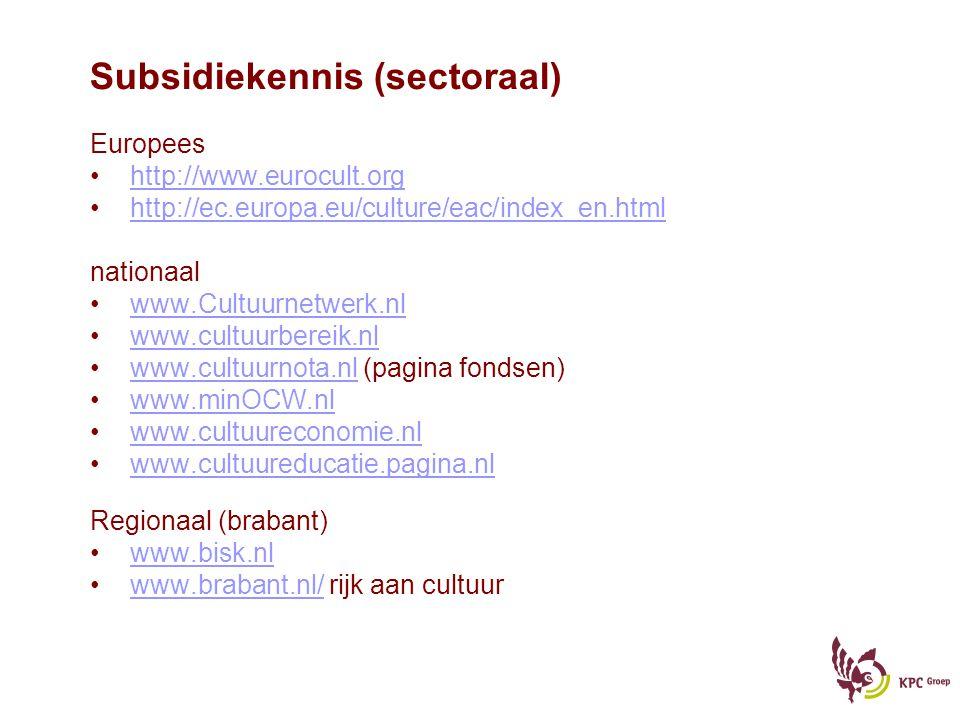 Subsidiekennis (sectoraal)
