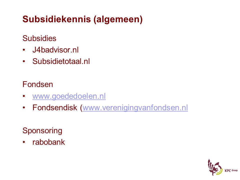 Subsidiekennis (algemeen)
