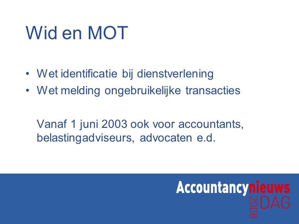 Wid en MOT Wet identificatie bij dienstverlening