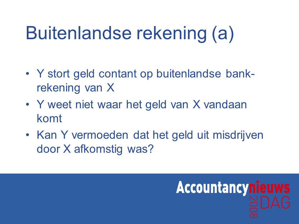 Buitenlandse rekening (a)