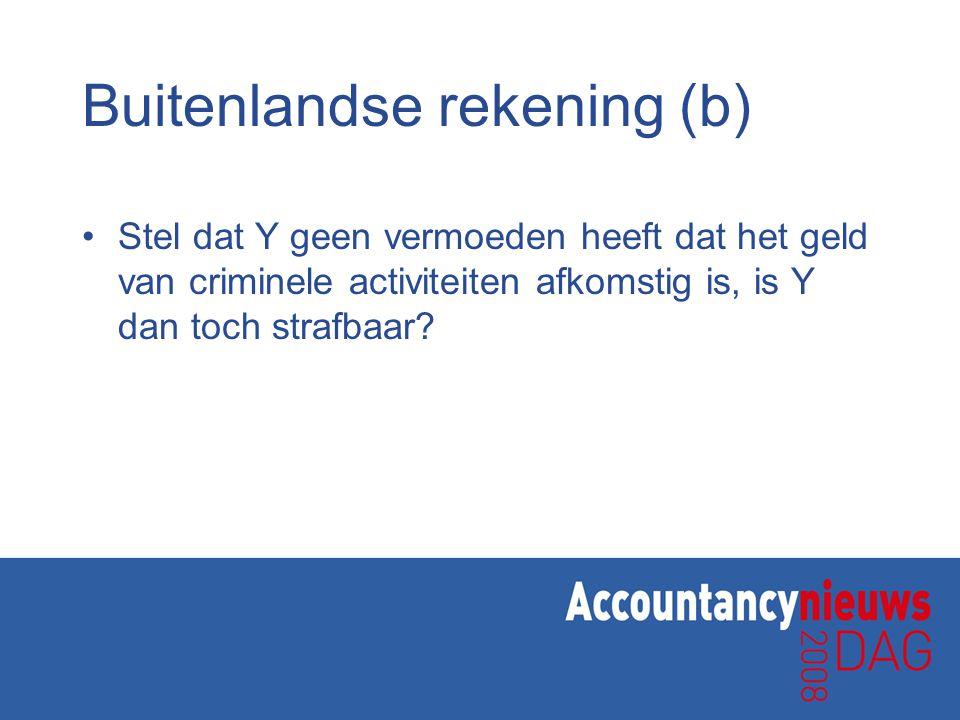 Buitenlandse rekening (b)