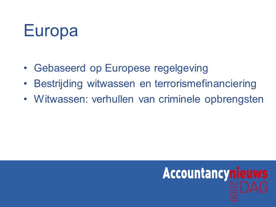 Europa Gebaseerd op Europese regelgeving