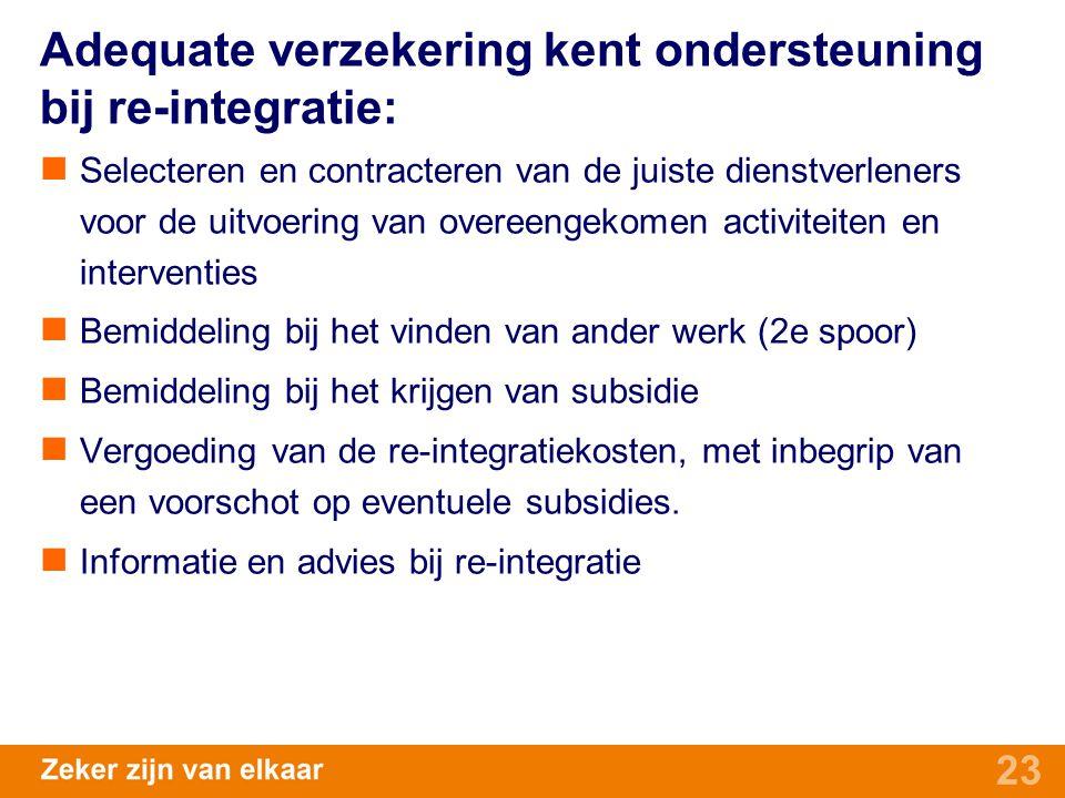 Adequate verzekering kent ondersteuning bij re-integratie: