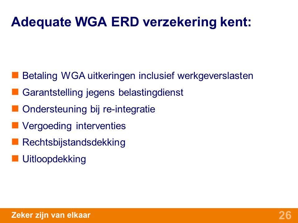 Adequate WGA ERD verzekering kent: