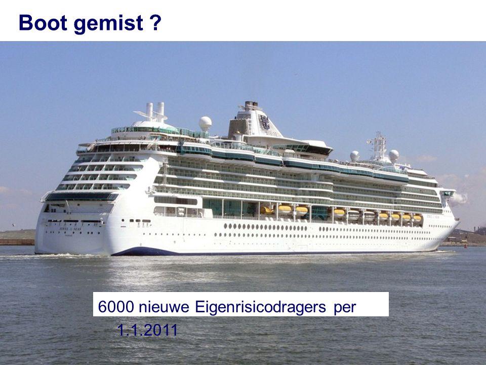 Boot gemist 6000 nieuwe Eigenrisicodragers per 1.1.2011