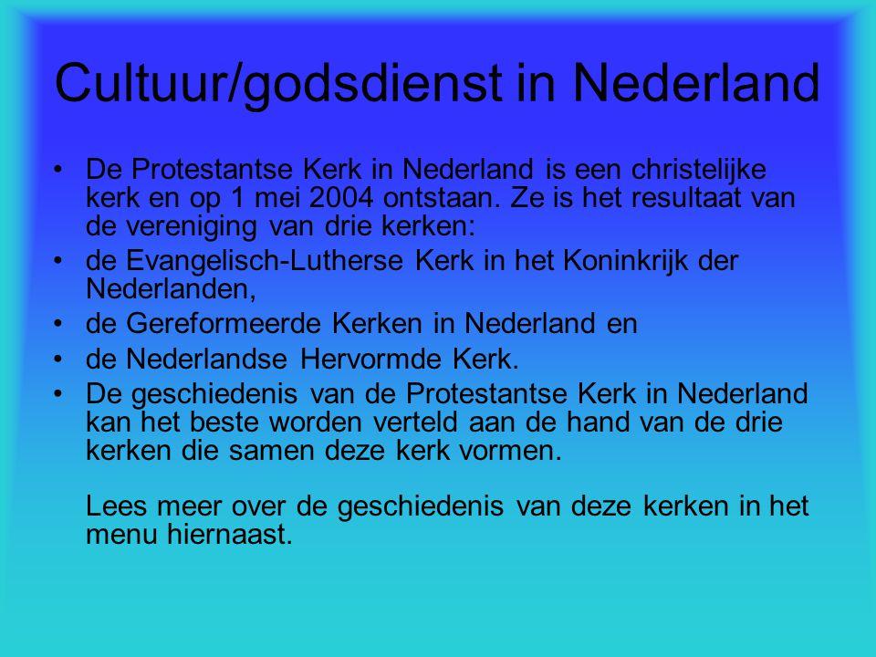Cultuur/godsdienst in Nederland