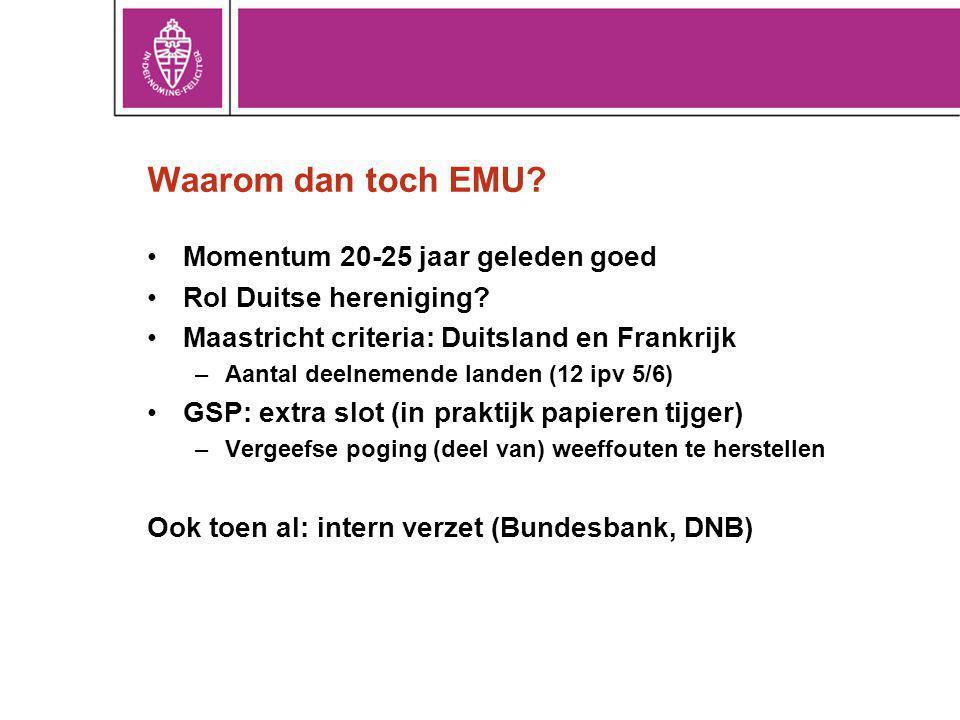 Waarom dan toch EMU Momentum 20-25 jaar geleden goed