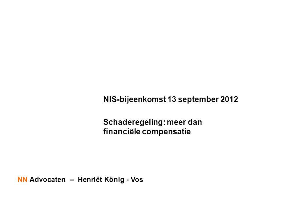 NIS-bijeenkomst 13 september 2012