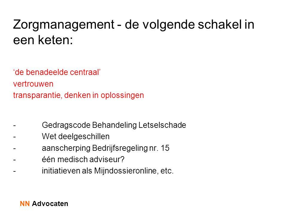 Zorgmanagement - de volgende schakel in een keten: