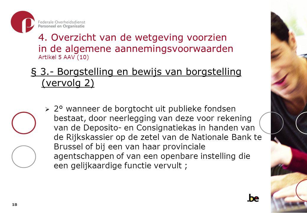 § 3.- Borgstelling en bewijs van borgstelling (vervolg 3)