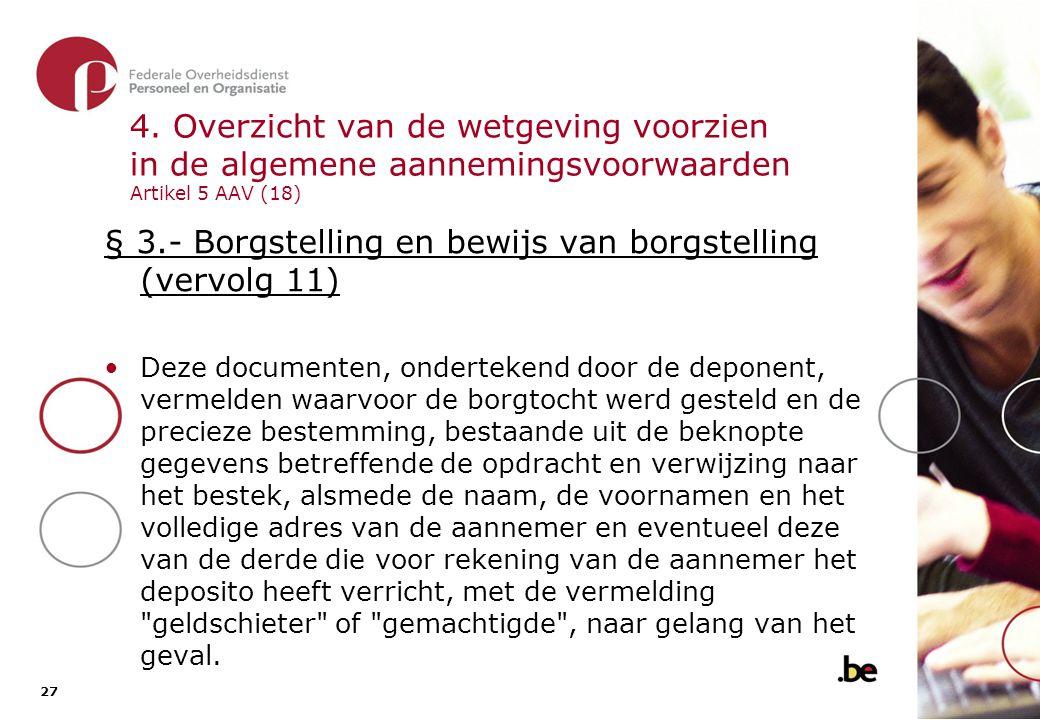 § 3.- Borgstelling en bewijs van borgstelling (vervolg 12)