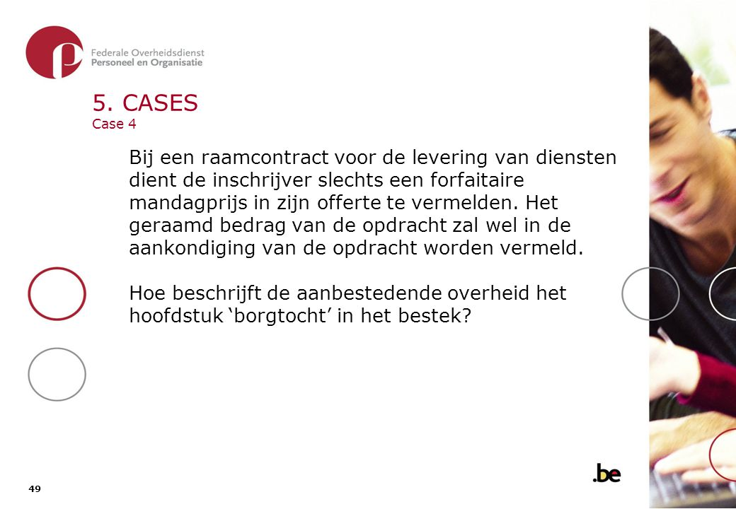 5. CASES Case 4 - oplossing