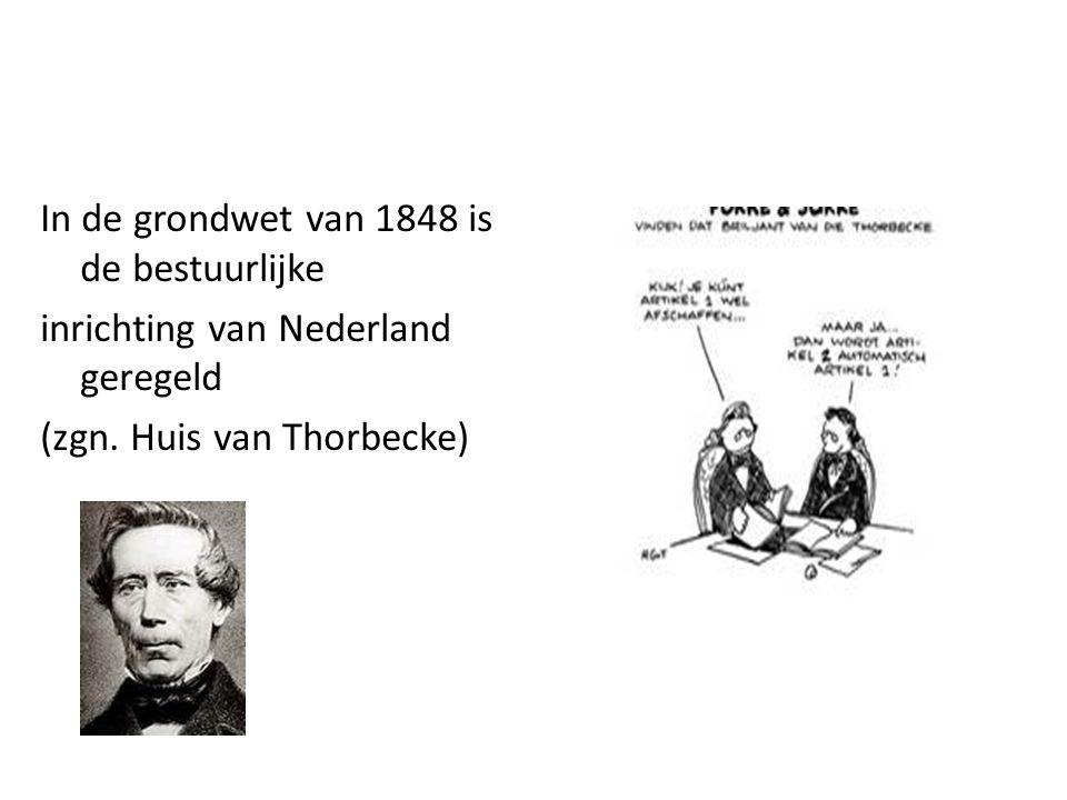 In de grondwet van 1848 is de bestuurlijke