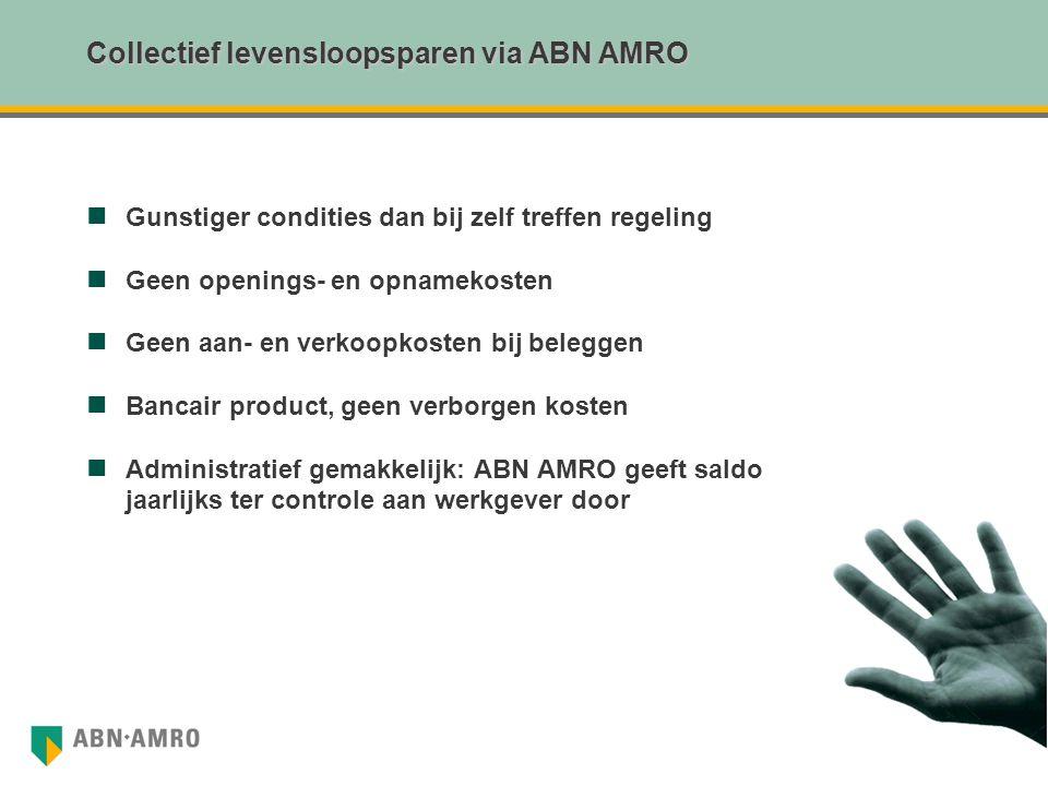 Collectief levensloopsparen via ABN AMRO
