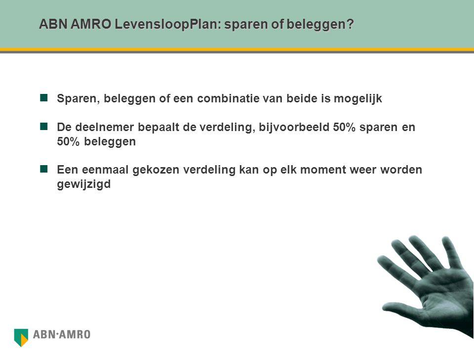 ABN AMRO LevensloopPlan: sparen of beleggen