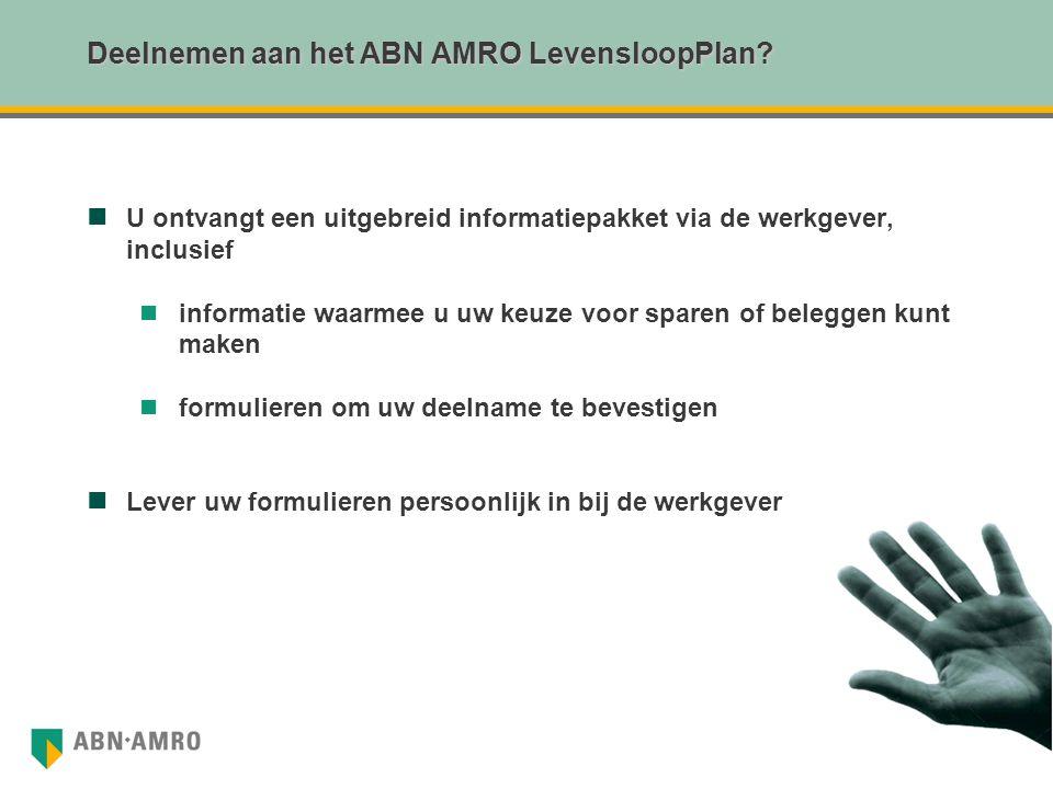 Deelnemen aan het ABN AMRO LevensloopPlan