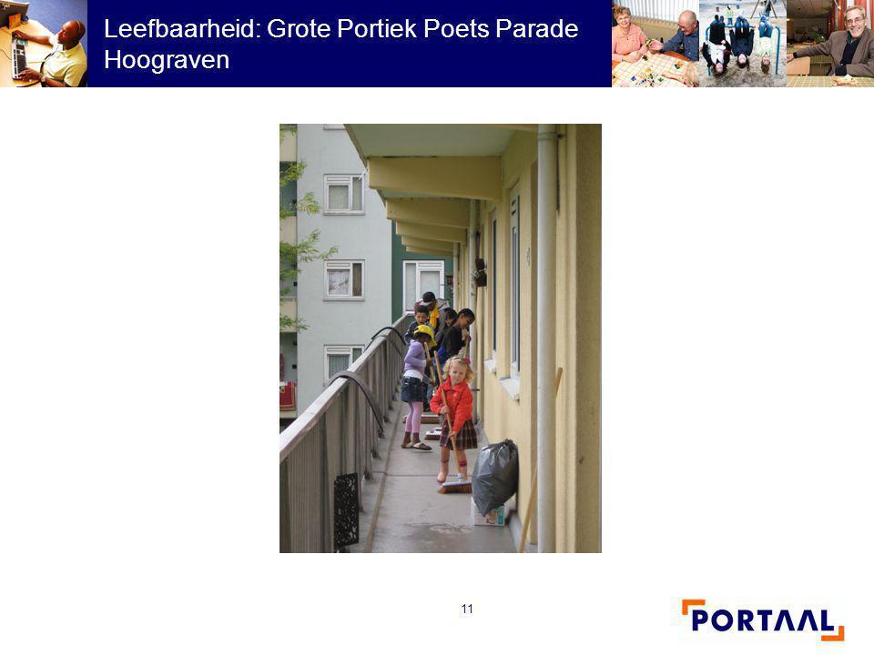 Leefbaarheid: Grote Portiek Poets Parade Hoograven
