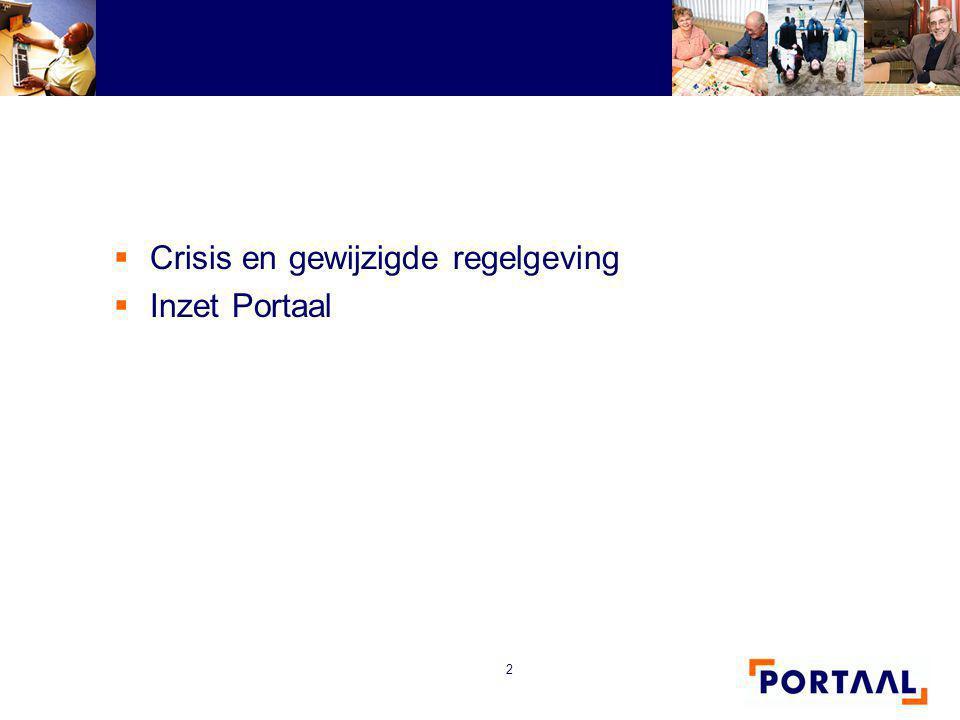 Crisis en gewijzigde regelgeving