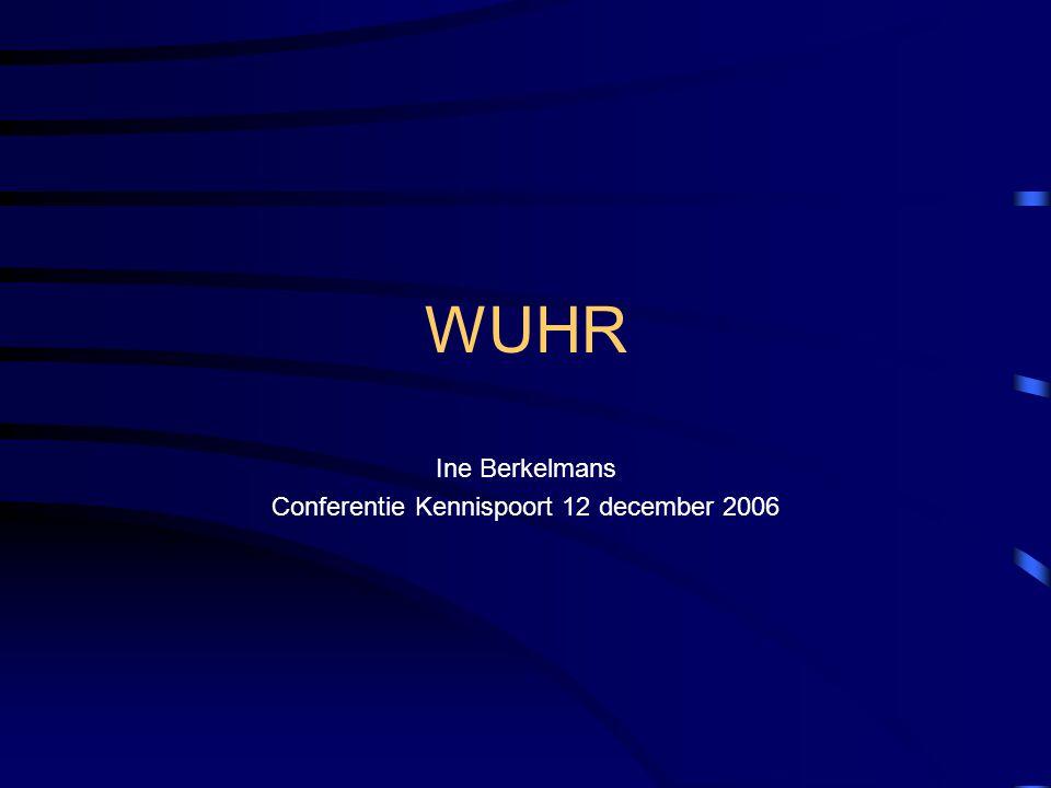Ine Berkelmans Conferentie Kennispoort 12 december 2006