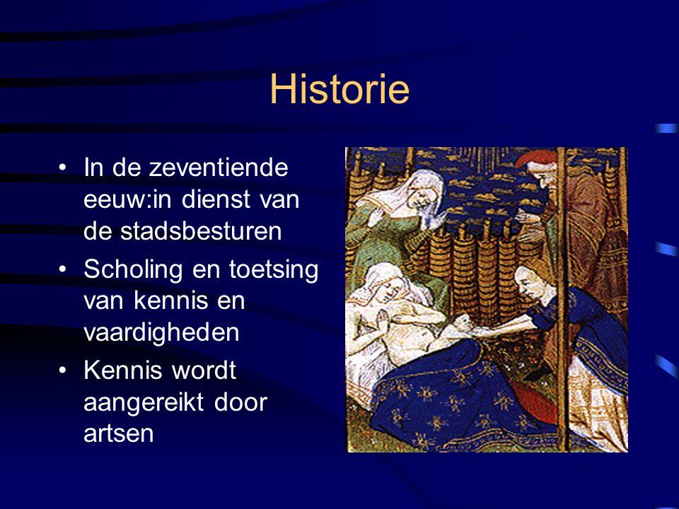 Historie In de zeventiende eeuw:in dienst van de stadsbesturen