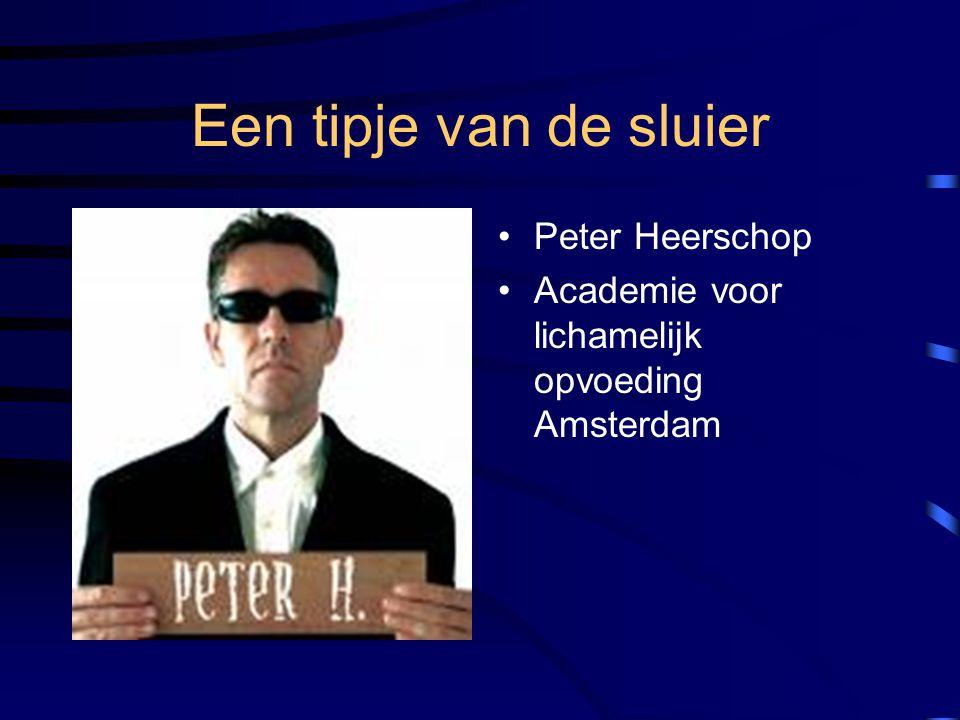 Een tipje van de sluier Peter Heerschop