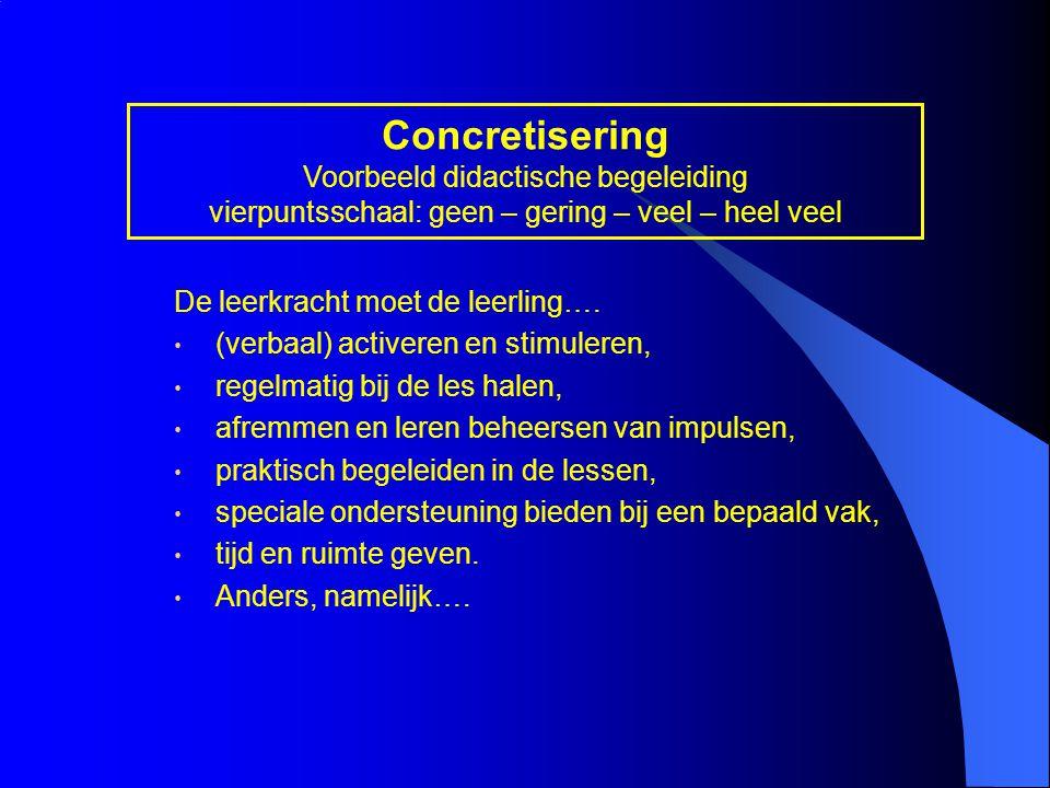 Concretisering Voorbeeld didactische begeleiding